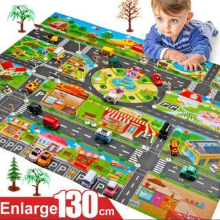 知育 プレイマット マップ ミニカー トミカ 道路 レゴ 英語 幼児 おもちゃ(知育玩具)