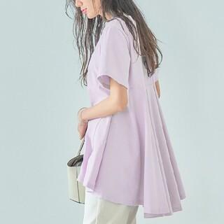 ティティベイト(titivate)の【新品】titivate バックフレアTシャツ パープル(Tシャツ(半袖/袖なし))