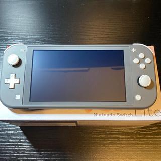 Nintendo Switch - 美品 中古 Switch Liteグレー+スタンド+ハードカバー
