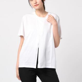 アンティローザ(Auntie Rosa)の【2点セット】Auntie Rosa フロントスプリットTシャツ&バングル(Tシャツ(半袖/袖なし))