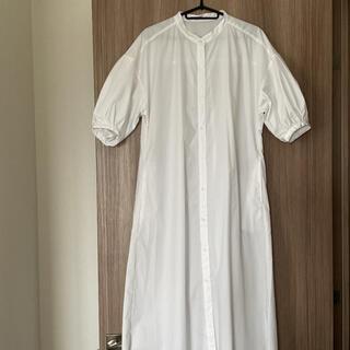 GU - GU バンドカラーシャツワンピース5分袖