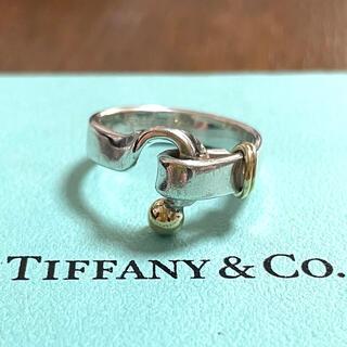 Tiffany & Co. - ティファニー フック&アイ リング 925 750 ラブノット  指輪