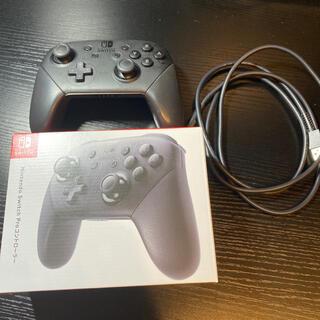 ニンテンドースイッチ(Nintendo Switch)の美品中古 NintendoSwitch proコントローラー(その他)