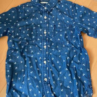 ジーユー(GU)のgu デニムシャツ 半袖 130㎝ ボーイズ 未使用(ブラウス)