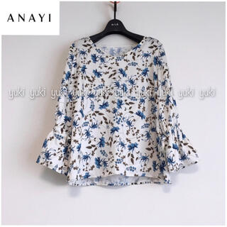 ANAYI - ANAYI 花柄ブラウス