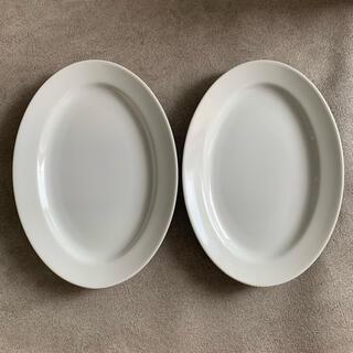 ザラホーム(ZARA HOME)のシンプル オーバル プレート皿 二枚(食器)