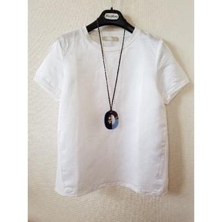 マックスマーラ(Max Mara)の新品 マックスマーラ Tシャツ ホワイト ブラミンク 半袖 ザロウ ジルサンダー(Tシャツ(半袖/袖なし))