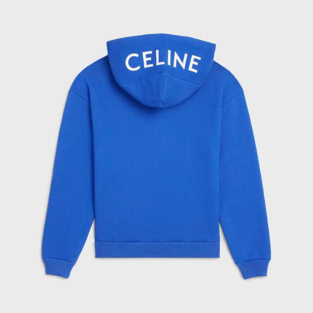 celine(セリーヌ)の即完売 CELINE セリーヌ モノクローム パーカー 青 XL メンズのトップス(パーカー)の商品写真