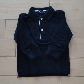 バーバリー(BURBERRY)のバーバリーキッズ ポロシャツ 80 ブラック タグ付き新品未使用(シャツ/カットソー)