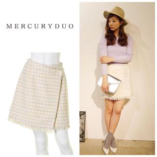 マーキュリーデュオ(MERCURYDUO)の新品MERCURYDUOツイードスカート(ミニスカート)