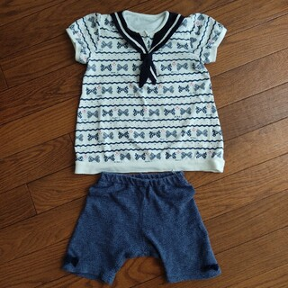 アカチャンホンポ(アカチャンホンポ)のベビー服 上下セット 半袖 ハーフパンツ 夏 アカチャンホンポ(Tシャツ)