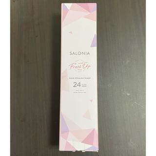 SALONIA ストレートヘアアイロン フレッシュアップピンク 24mm(ヘアアイロン)