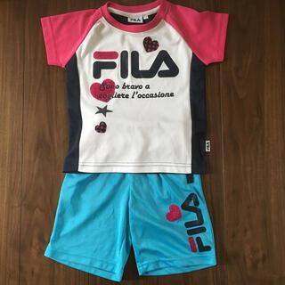 FILA - FILA 上下セット 110 半袖 Tシャツ ハーフパンツ