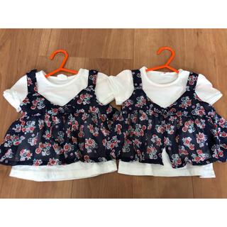 アカチャンホンポ(アカチャンホンポ)の双子 女の子 80 キャミソール付きトップス(Tシャツ)