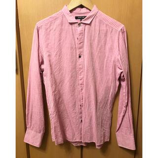 ミッシェルクラン(MICHEL KLEIN)のミッシェル クラン ピンク ストライプ シャツ 希少 48(シャツ)