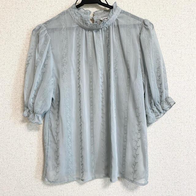 しまむら(シマムラ)のレース 刺繍 ブラウス レディースのトップス(シャツ/ブラウス(長袖/七分))の商品写真