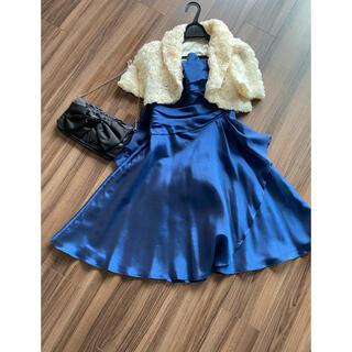 8種類の着方があるフォーマルドレス ボレロ バックセット(ミディアムドレス)