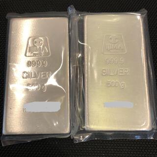 井嶋金銀工業純銀500gシルバー インゴット2本1k g999.9純銀バー 地金(金属工芸)
