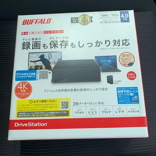 バッファロー(Buffalo)の新品 4TB 外付けHDD BUFFALO HD-NRLD4.0U3-BA(テレビ)