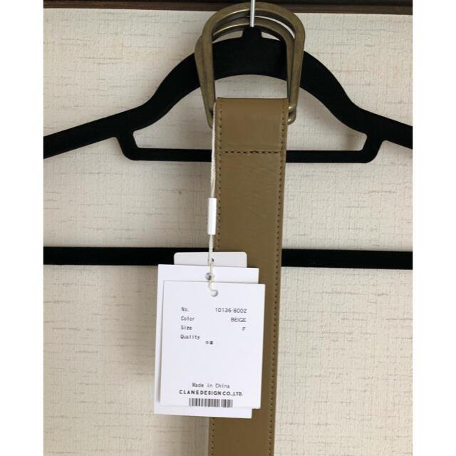 STUDIOUS(ステュディオス)のCLANE DOUBLE BUCKLE BELT レディースのファッション小物(ベルト)の商品写真
