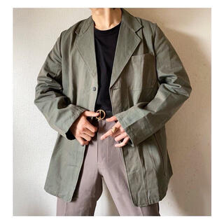 Yohji Yamamoto - dead stock vintage玉虫色 スウェーデン軍 テーラードジャケット