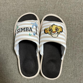 Disney - 【新品未使用】Lサイズ ライオンキング メッシュスリッパ