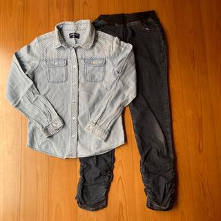 ニシマツヤ(西松屋)のシャツ・デニムパンツ 2点(その他)