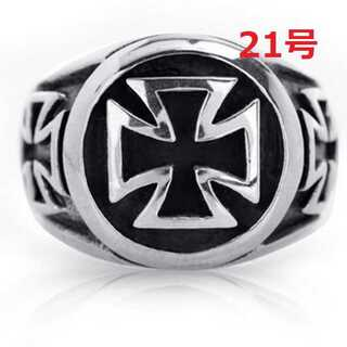 アメリカン アクセ クロス 十字架 シルバー リング 大人気 21号(リング(指輪))