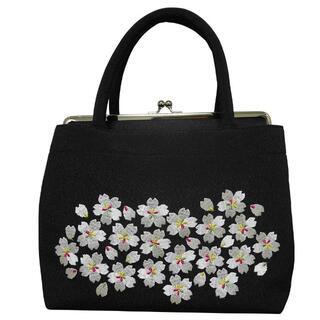 新品送料込み 桜刺繍入り和装バッグ 成人式、卒業式、結婚式に BAG105(ハンドバッグ)