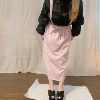 スピンズ(SPINNS)のSPINNS サロペットスカート スカートのみも ピンク ジャンパースカート(ロングスカート)