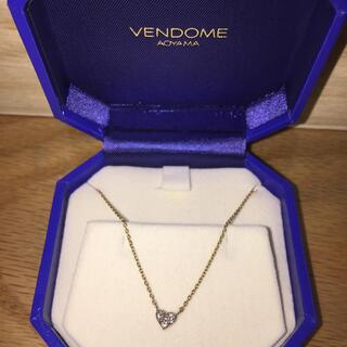 ヴァンドームアオヤマ(Vendome Aoyama)のvendome Aoyama K18PGダイヤモンドネックレス(ネックレス)