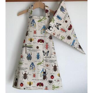 ハンドメイド 子どもエプロン+三角巾セット110(キッチン小物)
