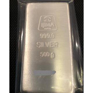 井嶋金銀工業純銀500gシルバー インゴット 安心999.9純銀バー 地金(金属工芸)
