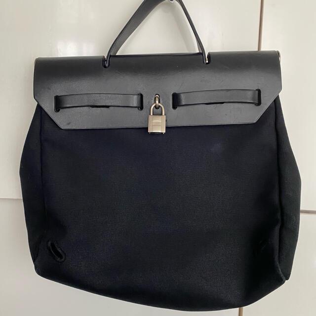 Hermes(エルメス)のHERMES エルメス エールバッグ キャンバス ブラック レディースのバッグ(ハンドバッグ)の商品写真