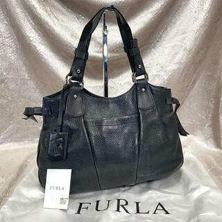 フルラ(Furla)の☆FURLA☆フルラ ハンドバッグ 黒 ブラック レザー 本革 肩掛け 鞄(ハンドバッグ)