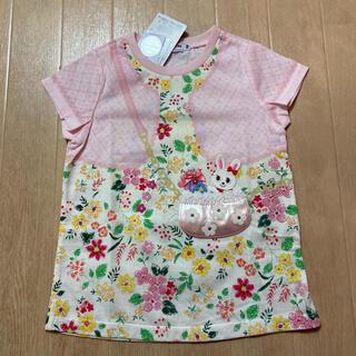 mikihouse - ミキハウス☆スワロフスキーうさこワッペンTシャツ☆100