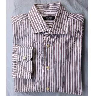 ZARA - ZARA ワイドカラーストライプシャツ新品未使用