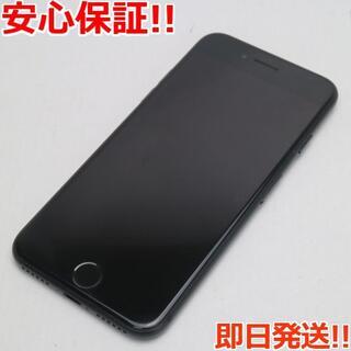 アイフォーン(iPhone)の美品 DoCoMo iPhone7 32GB ブラック (スマートフォン本体)