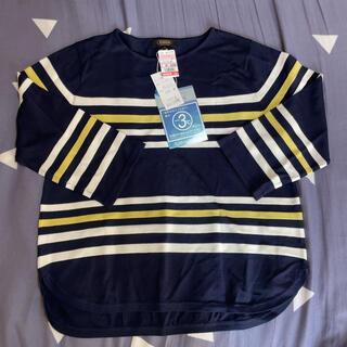 しまむら - 七分袖 Tシャツ 半袖 ネイビー LLサイズ