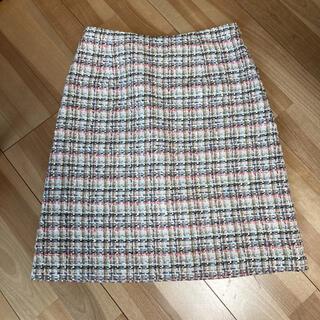 アナイ(ANAYI)のアナイ ツイードスカート(ひざ丈スカート)