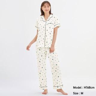 GU - GU サテンパジャマ ブルーベリー