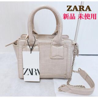 ザラ(ZARA)の【新品未使用】ZARA アニマルプリント クロコミニシティバッグ(ハンドバッグ)