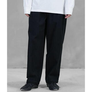 WIRROW 20aw Cotton twill tuck pants
