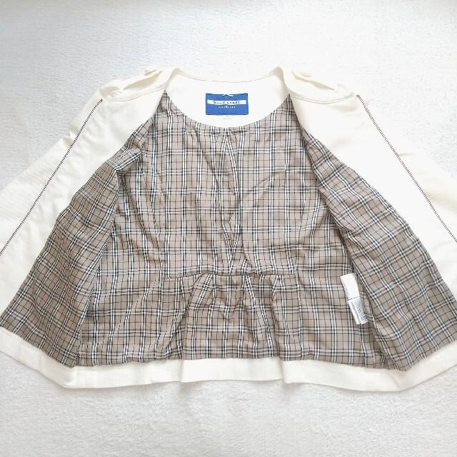 BURBERRY BLUE LABEL(バーバリーブルーレーベル)のBURBERRY BLUE LABEL ノーカラージャケット レディースのジャケット/アウター(ノーカラージャケット)の商品写真