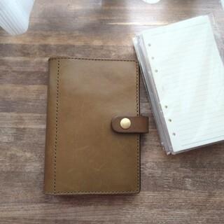 ヘルツ(HERZ)のherz  ヘルツ 手帳カバー バイブルサイズ グリーン(手帳)