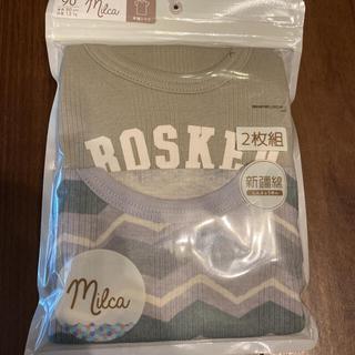 シマムラ(しまむら)の新品 milca 半袖シャツ 肌着 2枚セット 90cm 波柄(下着)