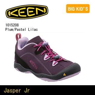 キーン(KEEN)のキーンkeenジャスパーJasperユースキッズ22cmプラム 通学 キャンプ(アウトドアシューズ)