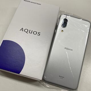 エーユー(au)のau SIMロック解除済 AQUOS sense3 basic SHV48 (スマートフォン本体)
