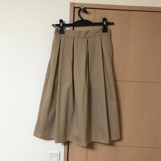グローブ(grove)のタックフレアスカート(ひざ丈スカート)