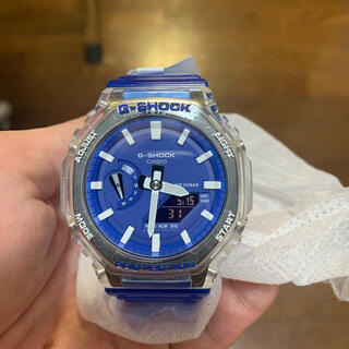 G-SHOCK GA-2100HC-2AJF ブルー&スケルトン  新品最安値